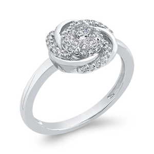 Round Diamond Swirl Fashion Ring Luminous RF1050T-42W
