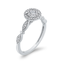 Load image into Gallery viewer, White Gold Round Diamond Halo Fashion Ring Luminous RF1070T-42W