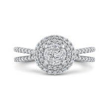 Load image into Gallery viewer, Split Shank Diamond Fashion Ring Luminous RF1079T-42W