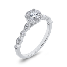Load image into Gallery viewer, 10K White Gold Fashion Halo Ring Luminous RF1089T-42W
