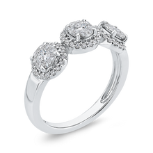 Load image into Gallery viewer, Round Diamond Three Stone Fashion Ring Luminous RF1112T-42W