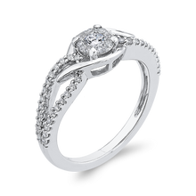 Load image into Gallery viewer, Split Shank Round Diamond Fashion Ring Luminous RF1122T-42W