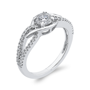 Split Shank Round Diamond Fashion Ring Luminous RF1122T-42W
