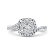 Load image into Gallery viewer, Round 5/8 ct Diamond Halo Fashion Ring Luminous RF1133T-42W