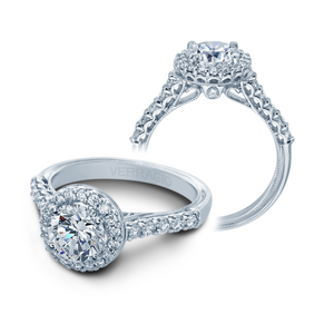VERRAGIO V903-R7 14K White Gold with Diamonds Halo Engagement Ring