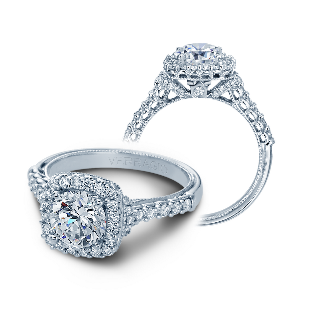 V-908-CU7-2T Verragio 14K 0.55ctw Semi - Mount Engagement Ring