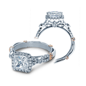 Verragio Parisian D-109P Halo Pave Engagement Ring