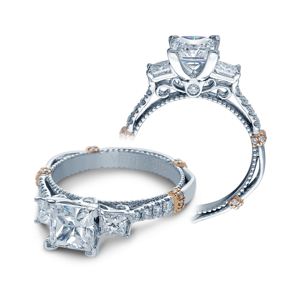 Parisian Collection Engagement ring with 0.65ct of Round Brilliant Diamonds DL-124P