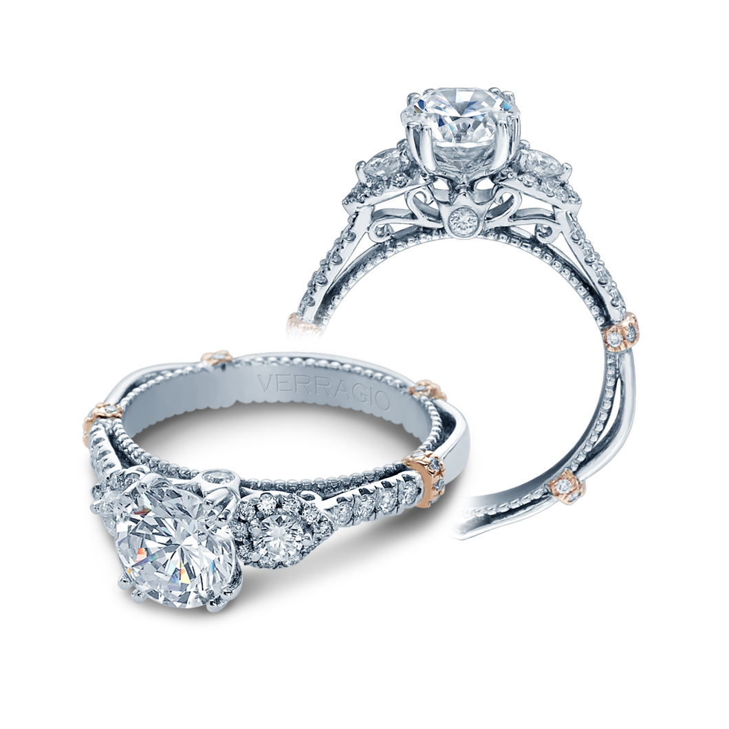 Parisian Collection Engagement ring with 0.50ct of Round Brilliant Diamonds DL-128
