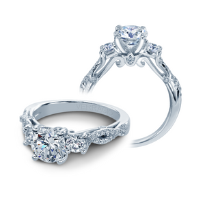 Verragio Twist Shank Diamond Engagement Ring INS-7055R