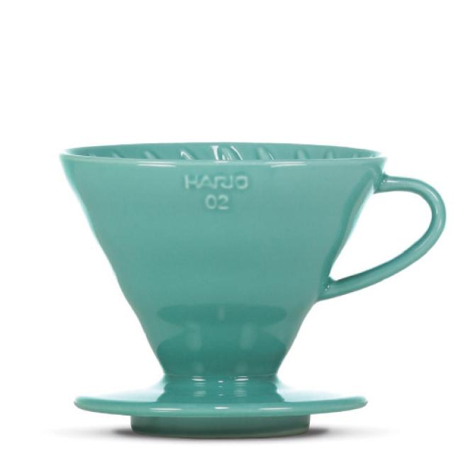 "Hario V60 ""Colour Edition"" turquoise green - BLACK HEN Rösthandwerk"