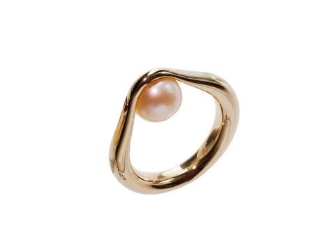 HUKU Gold Ring - Gold Pearl
