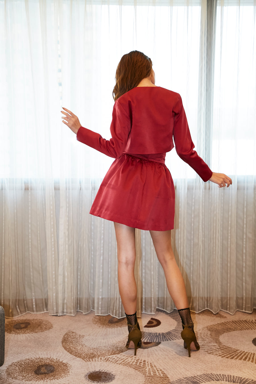 Red Jacket/Red Skirt