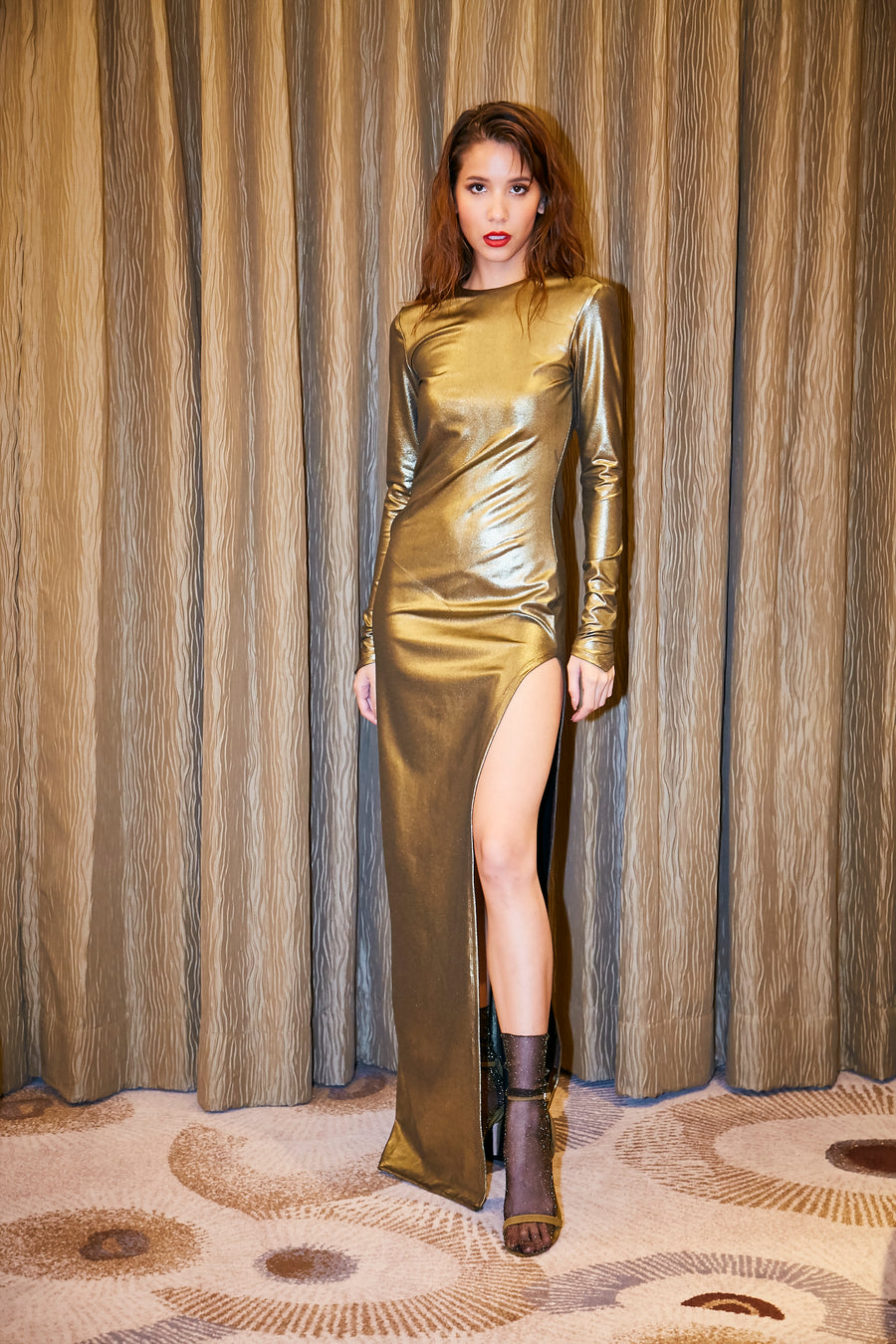 Gold Metallic Dress