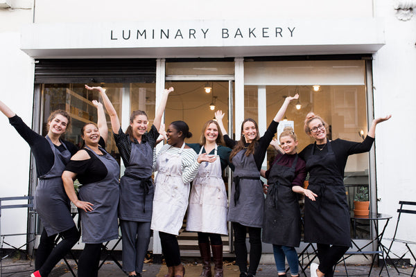 Luminary Team outside of Allen Road Bakery