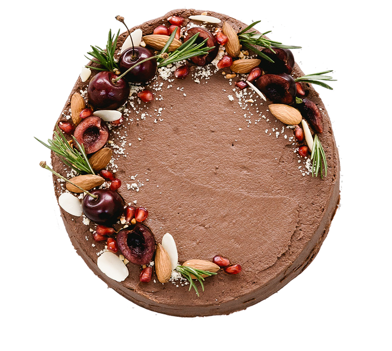 Chocolate, Cherry and Almond Cake