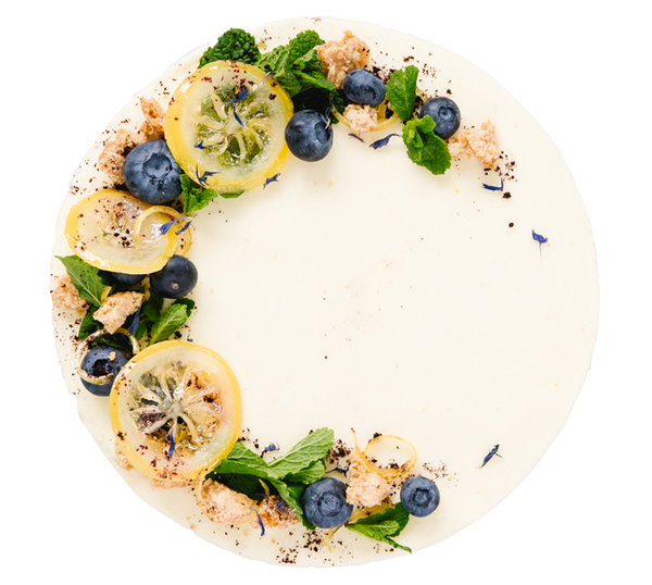 Vegan and Gluten Free Lemon and Blueberry Celebration Cake