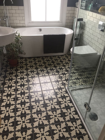 Little Tile Company Victorian Tile Bathroom Floor
