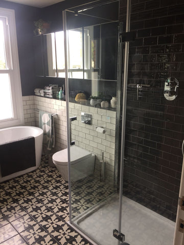 anthracite metro brick tiles