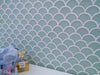 Aurora Fan Glass Mosaic Aqua