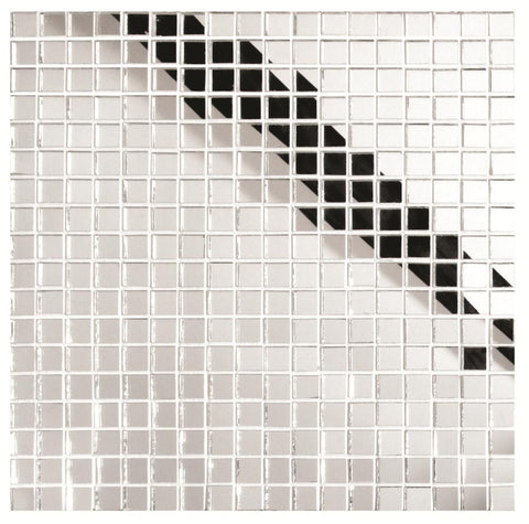 Bright Silver Square Mosaic