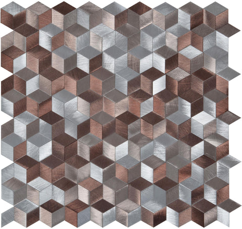 Copper Geometric Mosaic