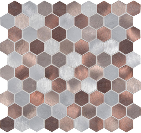 Copper Hexagon Mosaic