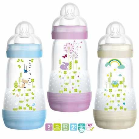 MAM Biberón Easy Start +2m 260ml - PequeStyle