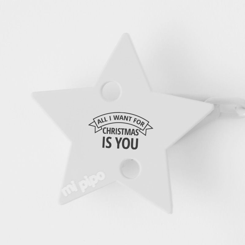 Broche Pinza Navideño All I want for Christmas is you - PequeStyle