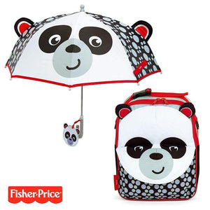 Pack ahorro Mochila + Paraguas 3D Fisher Price Panda No Personalizables - PequeStyle