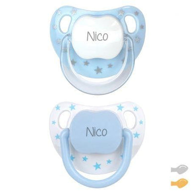 Pack 2 Chupetes Baby Chic Personalizado Mi Pipo - PequeStyle