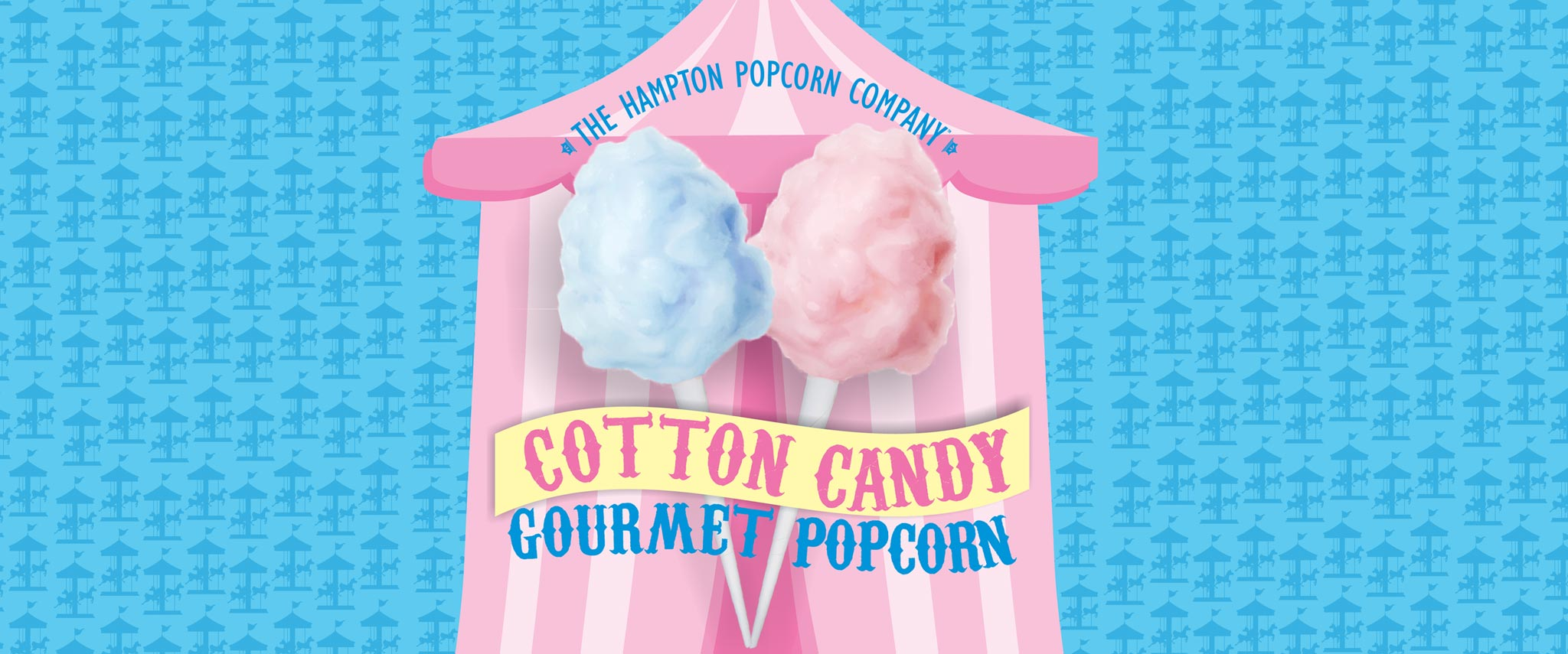 Cotton Candy Gourmet Popcorn Candy