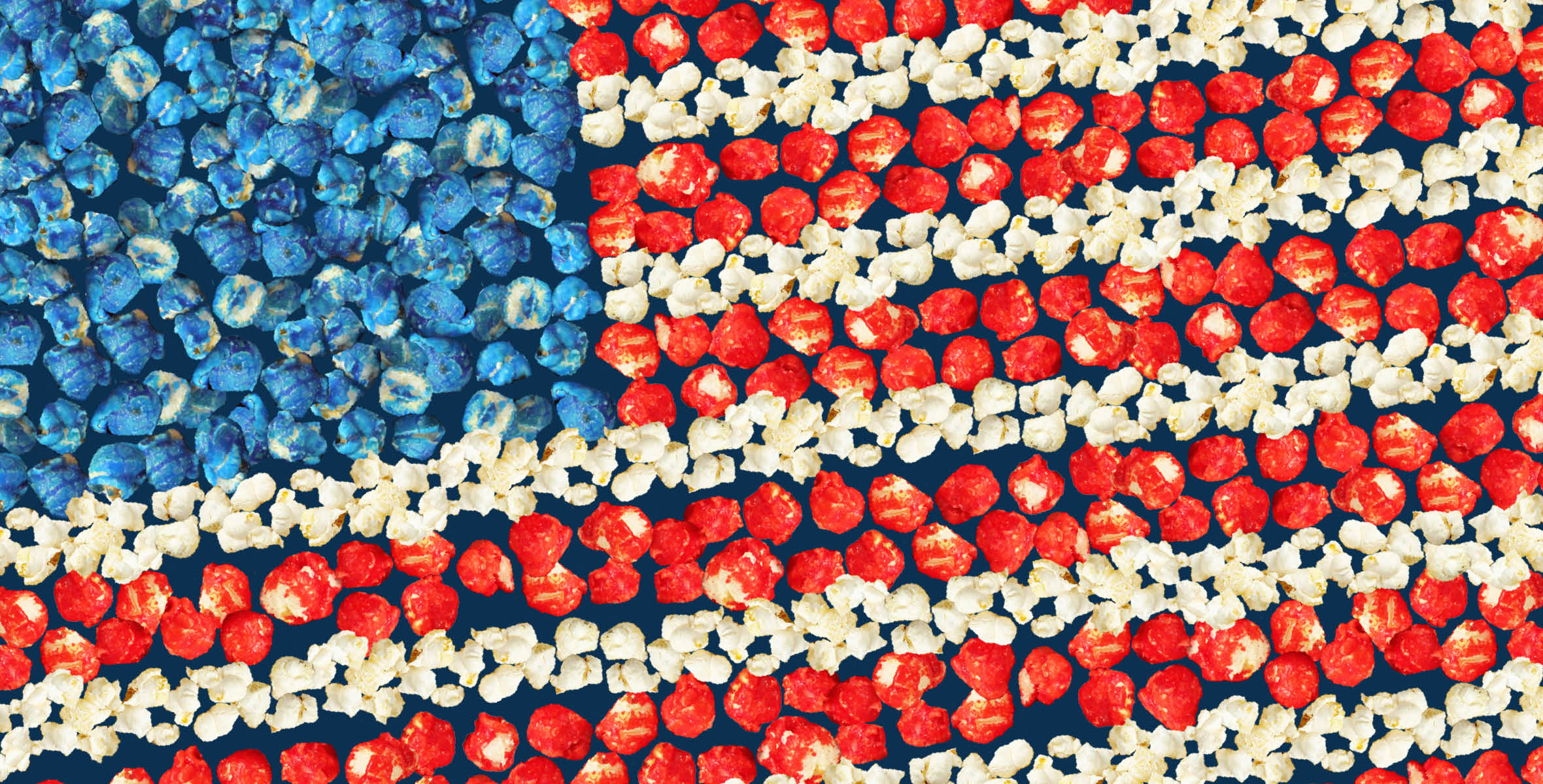 4th of July Popcorn Flag