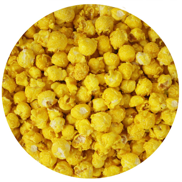 This is a swatch showing lemon popcorn.