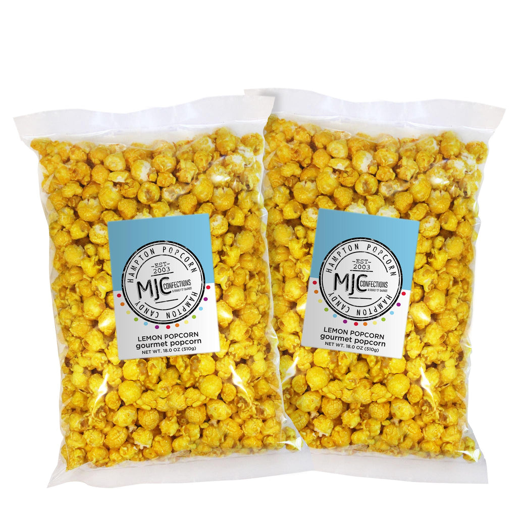 This is a 2 pack of popcorn bags filled with lemon popcorn.