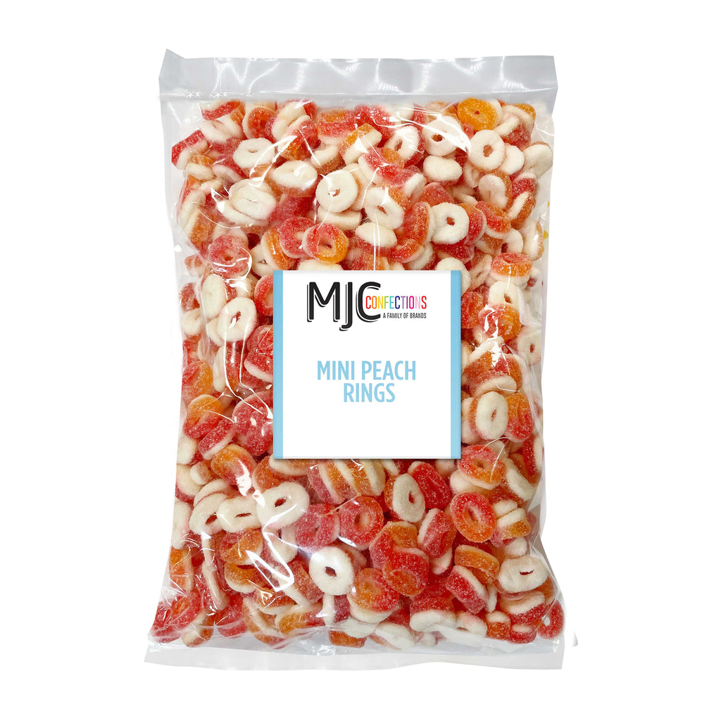 Mini Peach Rings 5 lb. Bulk Bag
