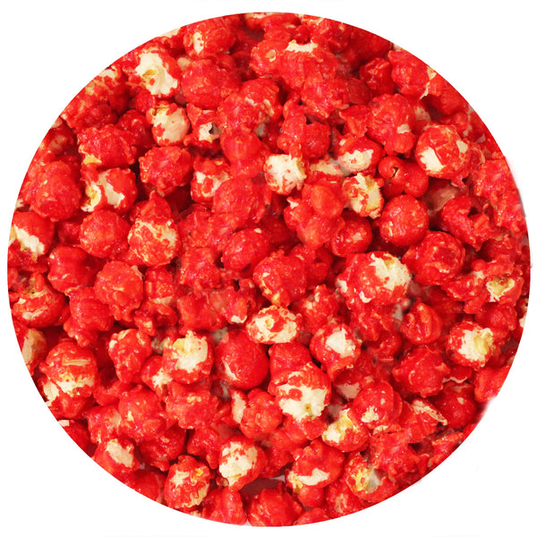 This is a swatch showing strawberry popcorn.