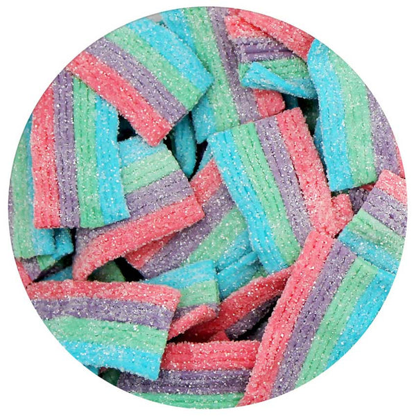 This is a candy swatch showing unicorn bites.