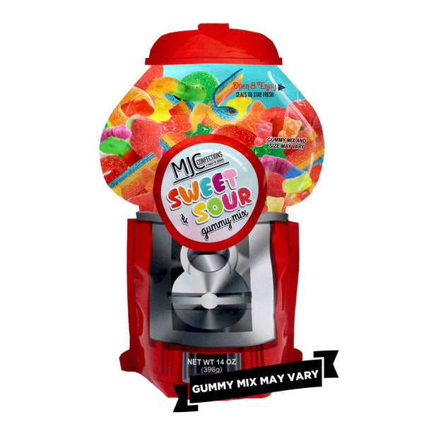 This is a single small candy machine bag with assorted candies.