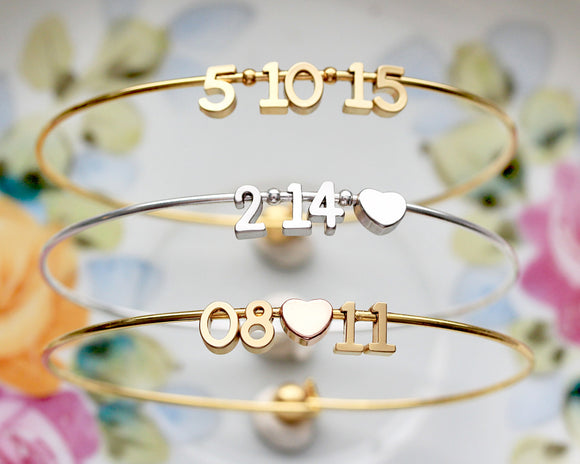 Personalised Special Date Bangle