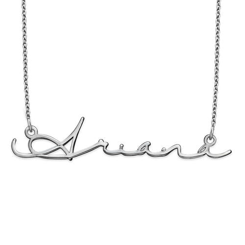 Personalised Silver Classic Name Necklace