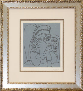 custom framing sample of Picasso lithograph