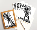 Mighty Mac card featuring a linoleum block print design by Natalia Wohletz of Peninsula Prints.