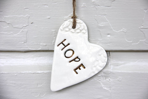 Hope Heart Ornament