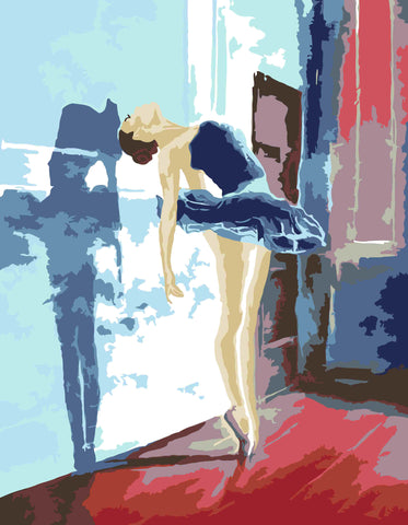 Artwille DIY Paint by Numbers For Adult And Kids - Ballerina
