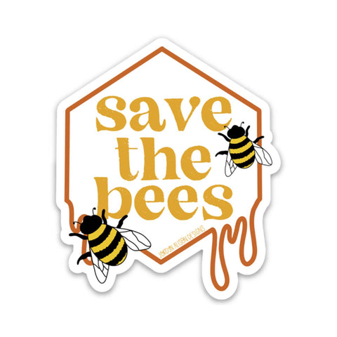 Save the Bees, Charity Vinyl Sticker