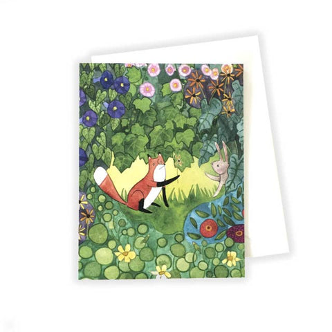 Fox and Bunny Notecard