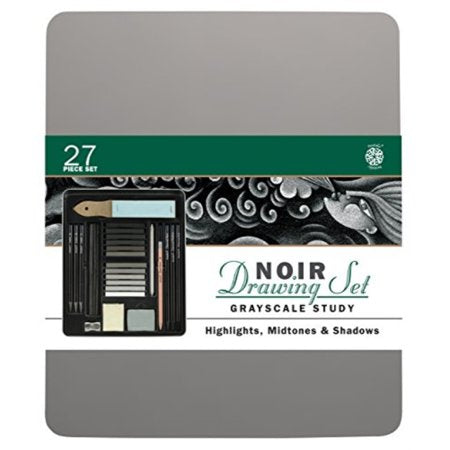 Noir Grayscale Study Drawing Set