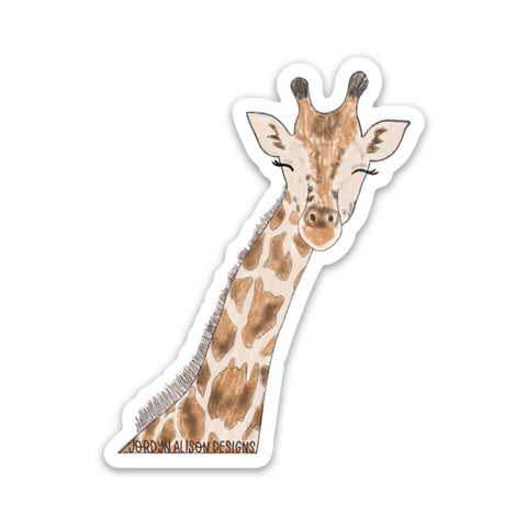 Giraffe, Charity Vinyl Sticker
