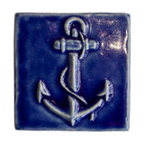 4x4 Anchor - Lake Michigan Blue by Little Traverse Tileworks.